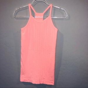 Athleta Peach Racerback Tank Top Extra Small C1